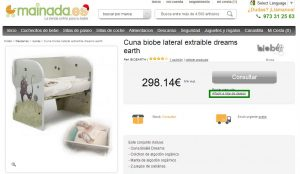 Listas de regalos en tiendas online: Caso Mainada.es